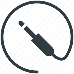 cable cord, headphone connector, jack cable, microphone connector, plug icon