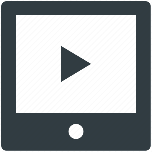 media, media player, multimedia, tablet, video player icon