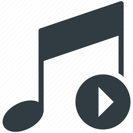 eighth note, music, music note, play music, quaver icon