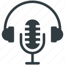 headphones, mic, microphone, radio mic, speak icon
