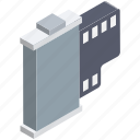 audiovisual, camera reel, camera reel box, film reel, movie reel, multimedia, reel icon