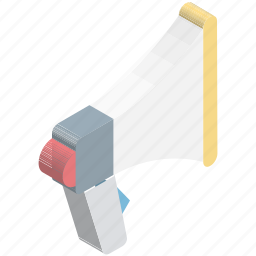 announcement, bullhorn, loud hailer, megaphone, sound, speaker, speaking trumpet icon