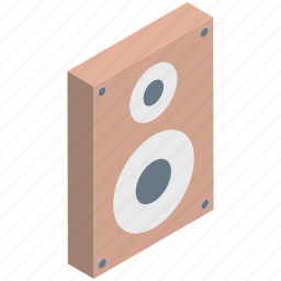 loudspeaker, sound, sound speaker, sound system, speaker, woofer icon