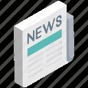 folded newspaper, media, news, news article, newspaper