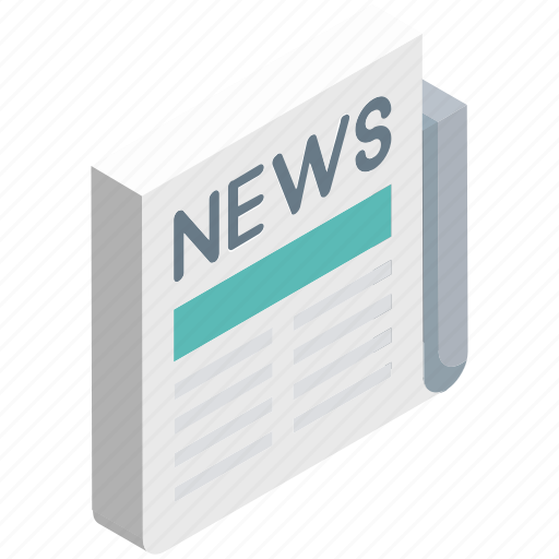 folded newspaper, media, news, news article, newspaper icon
