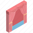 cinema, cinema curtain, cinema hall, curtain, film, movie, movie theater icon