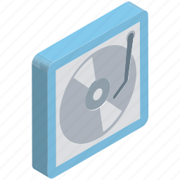 lp record, multimedia, record player, turntable, vinyl player icon
