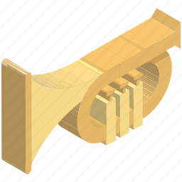 band, bugle, cornet, horn, music instruments, saxophone, trumpet icon