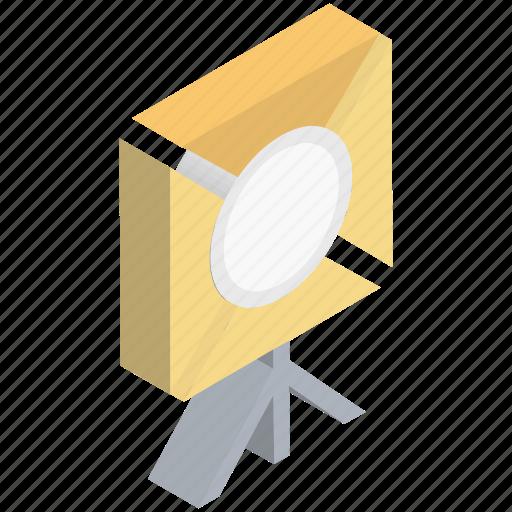 camcorder light, camera light, photo studio, photography, spotlight icon