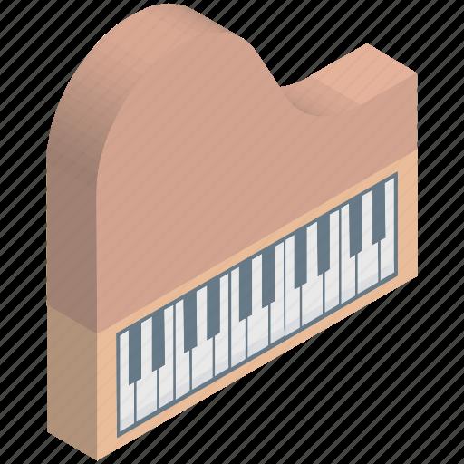 fortepiano, grand piano, instruments, multimedia, piano, piano keyboard, pianoforte icon