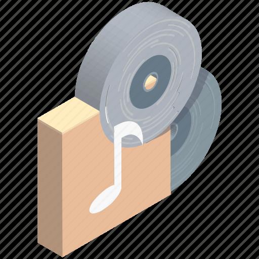 audio, cd, disc, dvd, music, record, vinyl icon