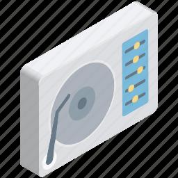audio, disc, music, player, record, turntable, vinyl icon