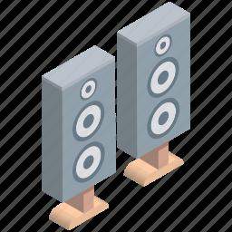 loudspeaker, sound, sound speaker, sound system, speaker, woofer icon
