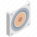 audio, sound, speaker, speaker devices, speakers, woofer icon