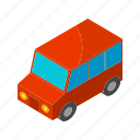 car, isometric, multimedia, road, street, transportation, wheel icon
