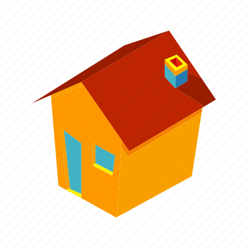 address, home, house, isometric, location, multimedia, stay icon