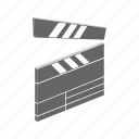 cinema, cut, film, isometric, movie, multimedia, scene icon