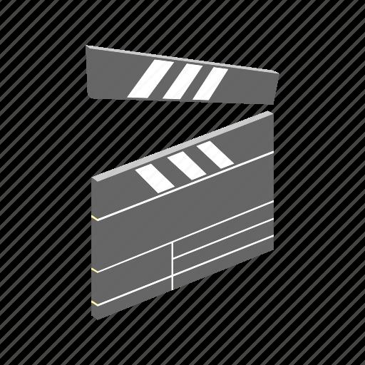 cinema, cut, film, isometric, movie, multimedia, scene icon
