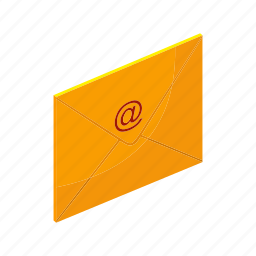 email, envelope, isometric, letter, mail, multimedia, send icon