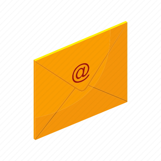 Email, envelope, isometric, letter, mail, multimedia, send icon - Download on Iconfinder