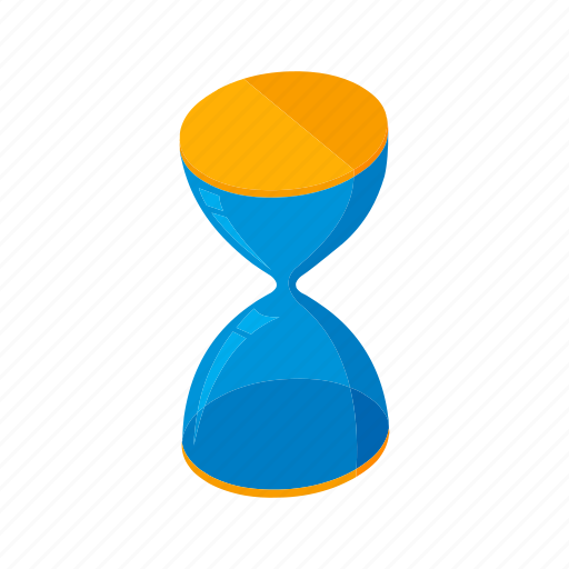 Deadline, isometric, multimedia, sand, stop watch, time icon - Download on Iconfinder