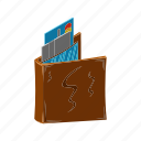 card, finance, financial, isometric, money, multimedia, wallet icon