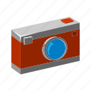 camera, isometric, multimedia, photo, photography, pocket camera, potrait icon