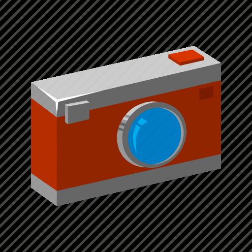camera, isometric, multimedia, photo, photography, pocket camera, potrait icon