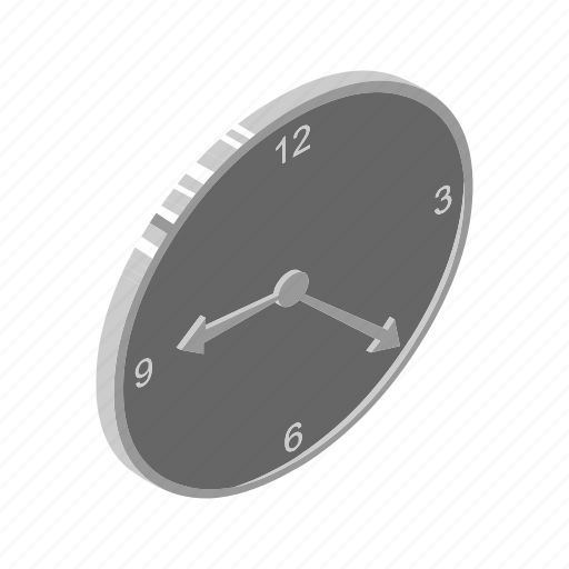 alarm, clock, isometric, multimedia, number, schedule, time icon