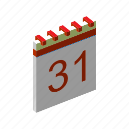 calendar, date, isometric, month, multimedia, schedule, time icon