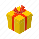 birthday, box, isometric, multimedia, present, surprise, wrap icon