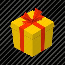 birthday, box, isometric, multimedia, present, surprise, wrap icon