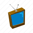 antenna, home theatre, isometric, multimedia, television, visual, watch icon