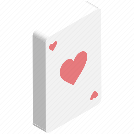 ace of heart, casino, entertainment, gambling, playing card, poker card, suit card icon