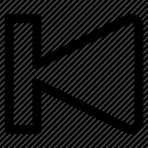 arrow, multimedia, previous icon