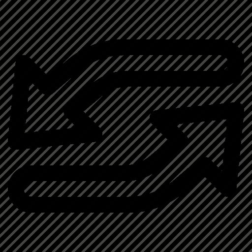 arrow, loop, multimedia, repeat icon