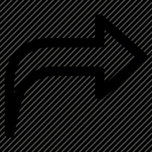 arrow, multimedia, share icon