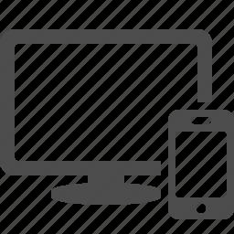 multimedia, phone, screen, smartphone, tv icon