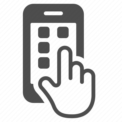 apps, hand, phone, smartphone, touch icon