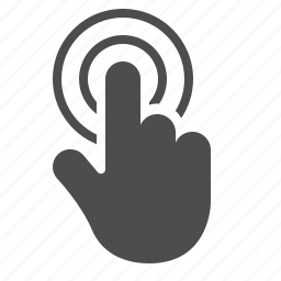 finger, gesture, hand, touch, touchscreen icon