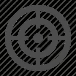 aim, bullseye, marketing, scope, target icon