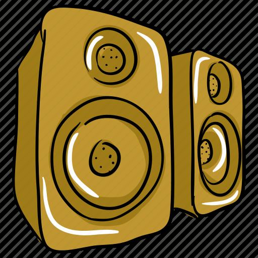 music, sound system, speaker, subwoofer, woofer icon