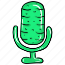 mic, microphone, radio mic, recording, speak icon