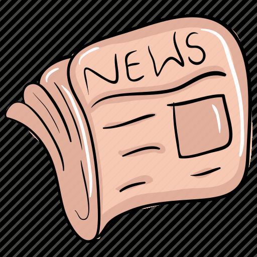 journalism, news, newsletter, newspaper, print media icon