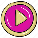 audio player, media button, media player, play button, video player icon