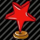 achievement, award, entertainment trophy, star award, trophy, winner cup, winner trophy icon