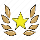 star award, star glory, star laurel, star reward, star wreathe icon