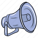 advertisement, bullhorn, loudspeaker, media promotion, megaphone icon