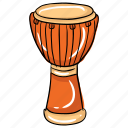 african drum, djembe, kettle drum, tabla, timpani icon