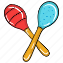 baby rattles, brazilian music, maracas, music rattles, musical instrument icon